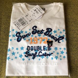 ダブルビー(DOUBLE.B)のダブルB Tシャツ 白 110 新品(Tシャツ/カットソー)
