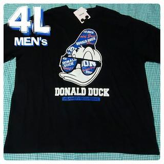 ディズニー(Disney)の大きいサイズ 4L ディズニー Disney ドナルド ビッグプリント 3XL(Tシャツ/カットソー(半袖/袖なし))