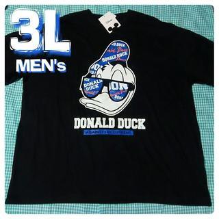ディズニー(Disney)の大きいサイズ 3L ディズニー Disney ドナルド ビッグプリント 2XL(Tシャツ/カットソー(半袖/袖なし))