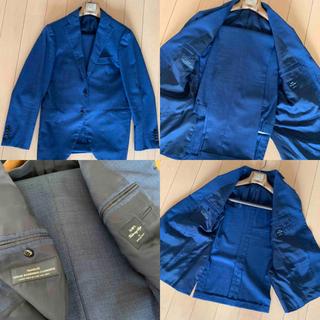 SHIPS - SHIPSスーツ per RING JACKETリングジャケット ブルーネイビー