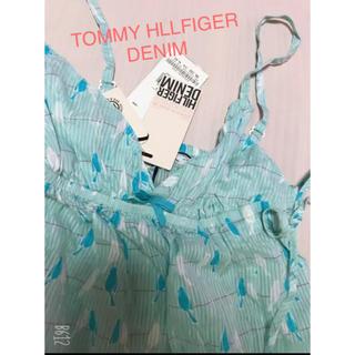 トミーヒルフィガー(TOMMY HILFIGER)のTOMMY HLLFIGER DENIM♡水色シャーリングキャミ 新品(キャミソール)