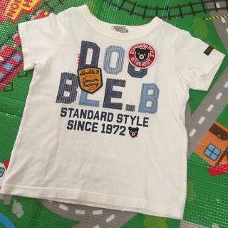 ダブルビー(DOUBLE.B)のミキハウス ダブルB ロゴワッペンTシャツ 100(Tシャツ/カットソー)