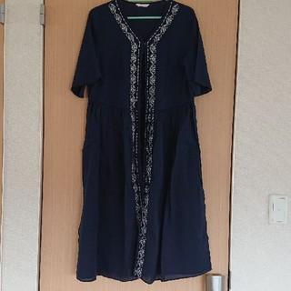 エヘカソポ(ehka sopo)の刺繍ロングワンピース(ロングワンピース/マキシワンピース)