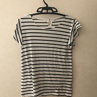 オペークドットクリップ(OPAQUE.CLIP)のボーダーTシャツ(Tシャツ/カットソー(半袖/袖なし))