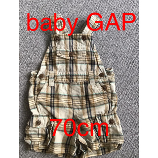 ベビーギャップ(babyGAP)のbaby GAP ベビー服 70cm チェック オーバーオール(カバーオール)