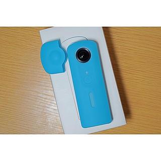 リコー(RICOH)のRICOH THETA SC ブルー 保護ケース付き(コンパクトデジタルカメラ)