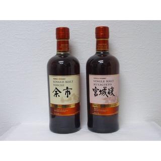 ニッカウイスキー(ニッカウヰスキー)の2017 余市 宮城峡 モスカテルウッドフィニッシュ 700ml 2本(ウイスキー)