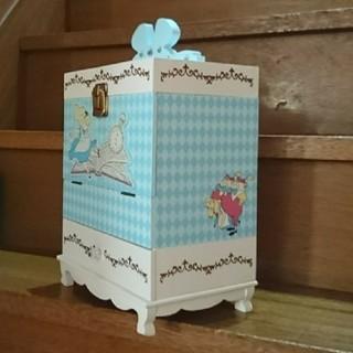 ディズニー(Disney)のディズニー 不思議の国アリス 木製コスメボックス(その他)