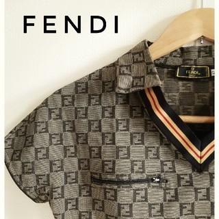 フェンディ(FENDI)の【土日セール中】フェンディ FENDI ズッカ柄 ポロシャツ【美品】(ポロシャツ)