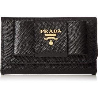 プラダ(PRADA)のプラダ キーケース サフィアーノ 黒 ブラック PRADA 新品 箱有り(キーケース)