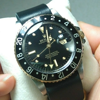 ロレックス(ROLEX)の美品!有名店購入品!ロレックス 16753 フジツボ トリチウム gmtマスター(腕時計(アナログ))