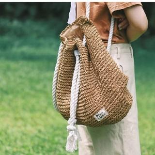 ZARA - レディース リュック 編み バックパック 新品 かごバッグ カバン ショルダ―