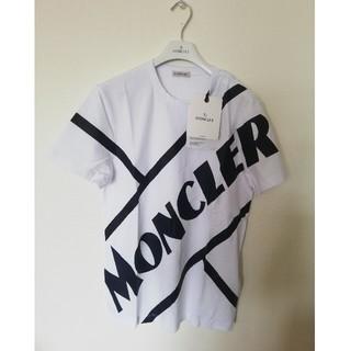 モンクレール(MONCLER)の【新品】2020新作!MONCLERモンクレール ロゴTシャツ白S(Tシャツ/カットソー(半袖/袖なし))