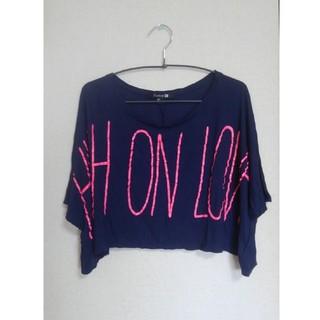フォーエバートゥエンティーワン(FOREVER 21)のForever21カットソー Tシャツ 紺 フォーエバー21(Tシャツ(半袖/袖なし))