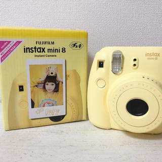 フジフイルム(富士フイルム)のFUJI FILM INSTAX MINI 8 N YELLOW 美品(フィルムカメラ)