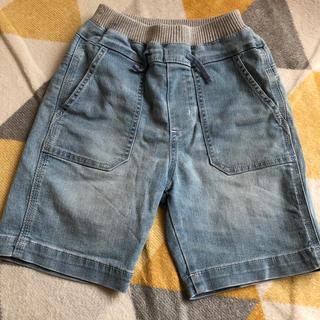 GU - 美品 GU デニム ハーフパンツ 半ズボン 130