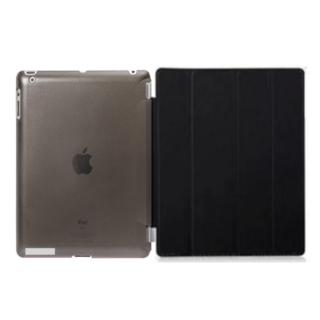 iPad ケース ブラック オートスリープ スタンド機能 iPad2/3/4対応(iPadケース)