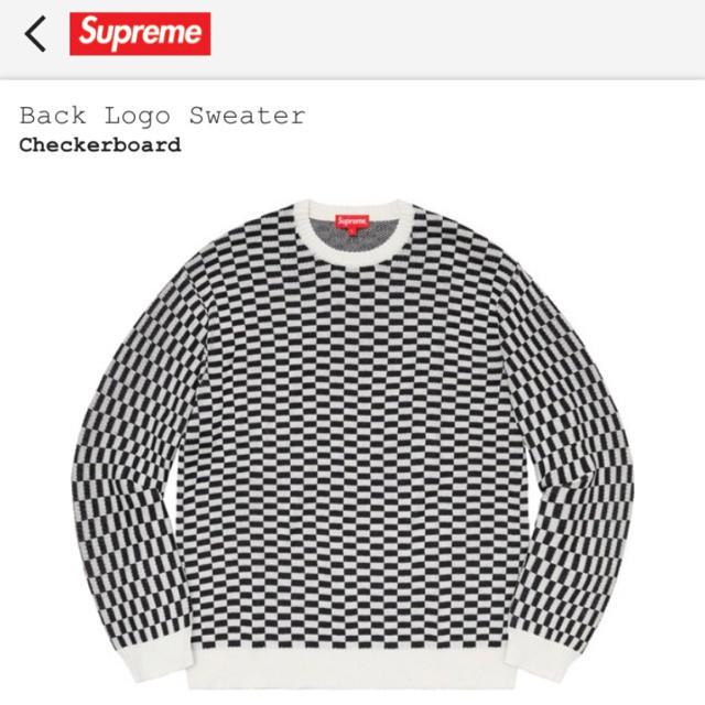 Supreme(シュプリーム)のシュプリーム  ロゴ セーター 白黒 キムタク着 S  ブロック メンズのトップス(ニット/セーター)の商品写真