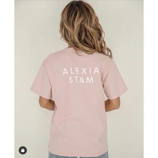 ALEXIA STAM - alexia stam アリシアスタン ロゴプリント Tシャツ