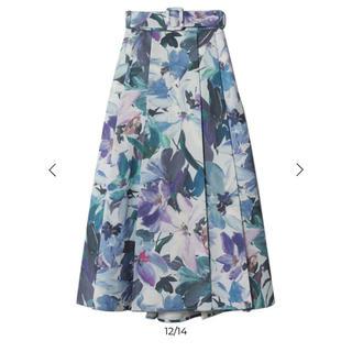 eimy istoire - eimy istoire Grace flower ベルトスカート S ブルー