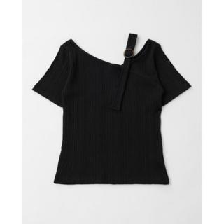 マウジー(moussy)のmoussy カットアウトリブTシャツ(カットソー(半袖/袖なし))