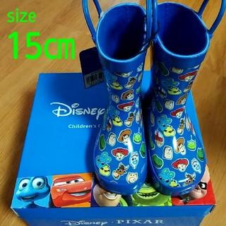 ディズニー(Disney)の【新品・タグ付・箱付】ディズニー ピクサートイストーリー レインブーツ ブルー(長靴/レインシューズ)