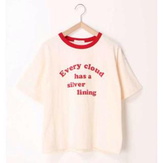 エヘカソポ(ehka sopo)の赤ロゴTシャツ(Tシャツ/カットソー(半袖/袖なし))