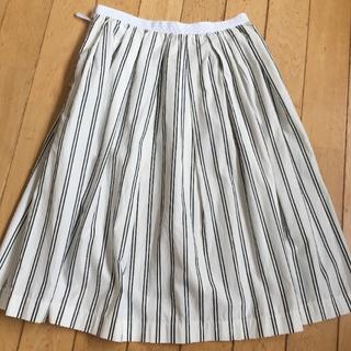 ユナイテッドアローズ(UNITED ARROWS)の美品/ストライプギャザースカート(ひざ丈スカート)