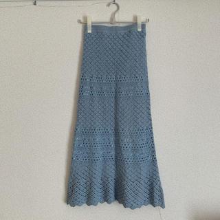アバンリリー(Avan Lily)のAVAN LILY かぎ編み風ヘムフレアスカート(ロングスカート)