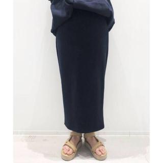 アパルトモンドゥーズィエムクラス(L'Appartement DEUXIEME CLASSE)のAMERICANA Sweat スカート ネイビー 34 新品未使用(ロングスカート)