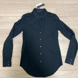 セオリー(theory)の新品未使用 セオリー オックスフォードシャツ ブラック(シャツ/ブラウス(長袖/七分))