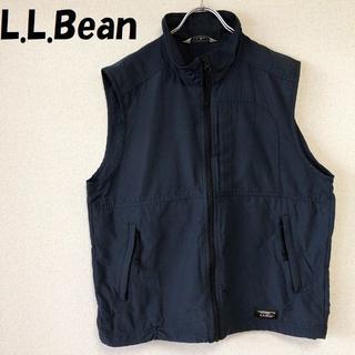 エルエルビーン(L.L.Bean)の【人気】L.L.Bean/エルエルビーン ジップアップ ナイロンベスト ネイビー(ベスト)