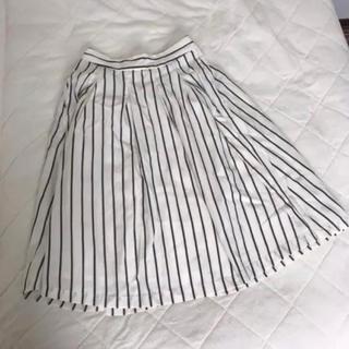 ローリーズファーム(LOWRYS FARM)のローリーズファーム ストライプ フレアスカート(ひざ丈スカート)
