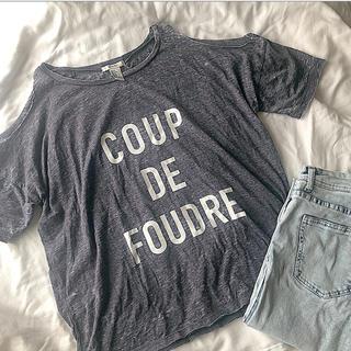 フォーエバートゥエンティーワン(FOREVER 21)のFoever21 肩あきロゴTシャツ(Tシャツ(半袖/袖なし))