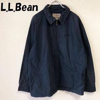 エルエルビーン(L.L.Bean)の【人気】エルエルビーン 刺繍ロゴ入りジップアップ ブルゾン ジャンバー サイズL(ブルゾン)