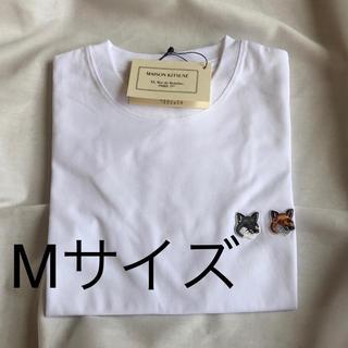 メゾンキツネ(MAISON KITSUNE')のメゾンキツネ maison kitsune Tシャツ ホワイト M(Tシャツ/カットソー(半袖/袖なし))