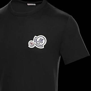 モンクレール(MONCLER)の★希少★MONCLER Wロゴワッペン Tシャツ XL モンクレール 国内正規品(Tシャツ/カットソー(半袖/袖なし))