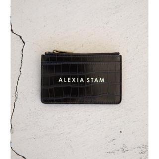 アリシアスタン(ALEXIA STAM)のLogo Card Case Black(名刺入れ/定期入れ)
