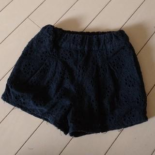 petit main - プティマイン  花刺繍 ショートパンツ 90cm 美品