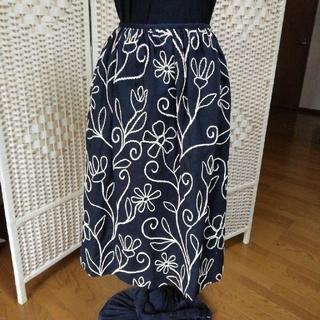 シビラ(Sybilla)のSybilla コード刺繍スカート(ひざ丈スカート)