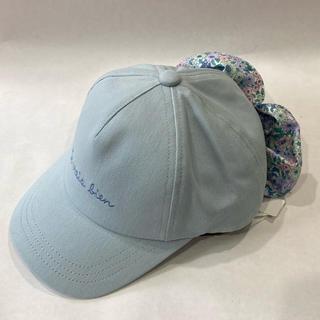 エニィファム(anyFAM)の新品 日除けリボンキャップ BL:M(帽子)