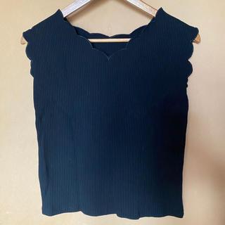 ナチュラルクチュール(natural couture)のリブスカラップTシャツ(Tシャツ(半袖/袖なし))