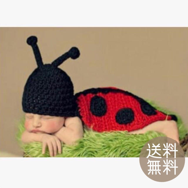 ニューボーンフォト 寝相アート ベビーコスチューム 新生児 キッズ/ベビー/マタニティのベビー服(~85cm)(その他)の商品写真