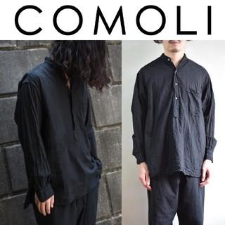 コモリ(COMOLI)の新品 3 黒 COMOLI ベタシャン プルオーバーシャツ(シャツ)