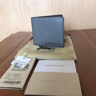 バーバリー(BURBERRY)のバーバリー 札入れ 新品未使用 グレー(折り財布)