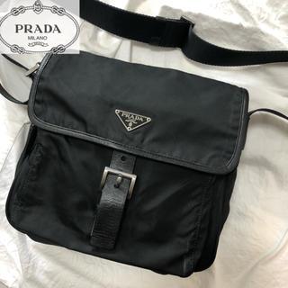 プラダ(PRADA)の美品 PRADA プラダ ショルダーバッグ 黒 ブラック(ショルダーバッグ)