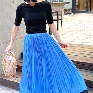 アパルトモンドゥーズィエムクラス(L'Appartement DEUXIEME CLASSE)のJENNE 新品未使用 バイカラープリーツスカート サイズS(ロングスカート)