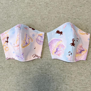 子どもサイズ♡インナーマスク2枚セット(外出用品)