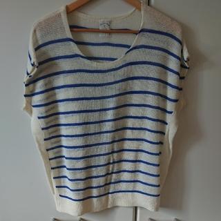 ディスコート(Discoat)のボーダー トップス(Tシャツ(半袖/袖なし))