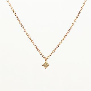 エテ(ete)のete エテ K10 0.03 一粒 ダイヤモンド フルール ネックレス 誕生石(ネックレス)